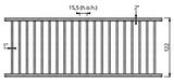 Afscheidingshek voor vleesvee, 122 cm hoog, 350 cm lang_