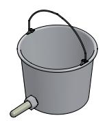 Kunststof kalveremmer 12 liter met speen