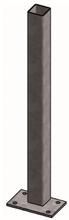 Opbouw standpijp 80 mm vierkant x 160 cm