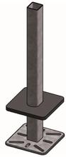 Opbouw standpijp met grote voetplaat 80x80 x 160 cm