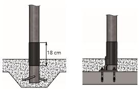 Kunststof beschermhuls 80 mm vierkant