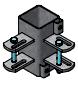 Bevestigingsdeel 80x80 2 tussenhekken (90gr)