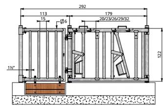 Deur incl. sluiting en sluitpunten, 96 cm