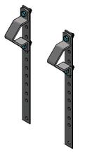Stel hangbanden voor stierebox deur