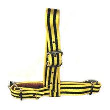 Keuringshalster geel/zwart, pink