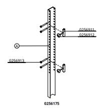 Staander UNP 120 A, lang 180 cm, compleet met 2 snelsluitingen