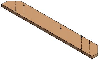 Plank voor rooster kalverbox 92 cm