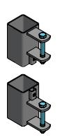 Stel bevestigingsdelen aan 80 mm