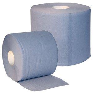 Uierpapier 3-laags verlijmd, blauw, 1000 vellen, 2 rollen